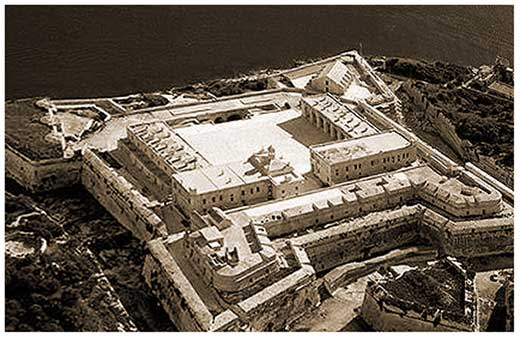 Aerial view of Fort. Manoel