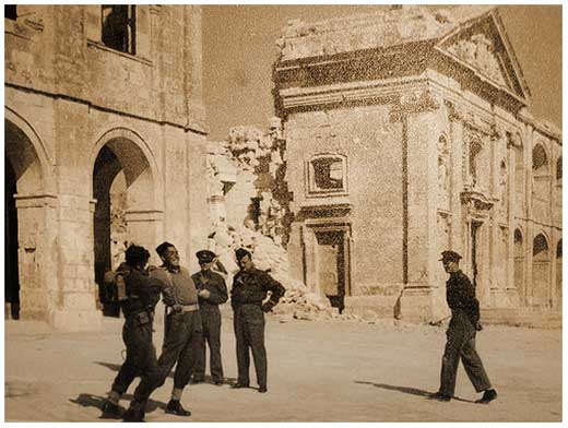 Post war photo of British soldiers at Fort Manoel