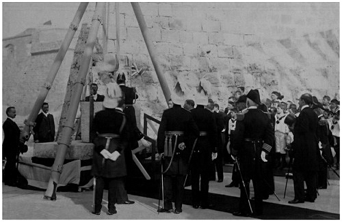 Laying of Foundation Stone for the Grand Harbour Breakwater by King Edward VII 1903.