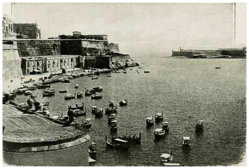 The Grand Harbour before the breakwater was built circa 1890.
