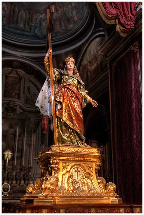The statue of St. Helen in the Collegiate Basilica of Birkirkara