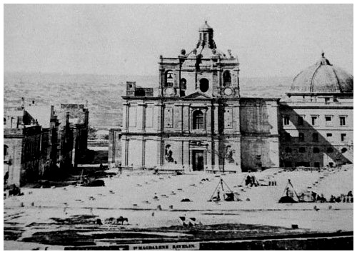 The original church of St. Publius (circa 1867)