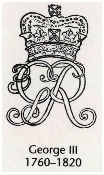 The Royal Cypher of King George III of England (1760-1820)