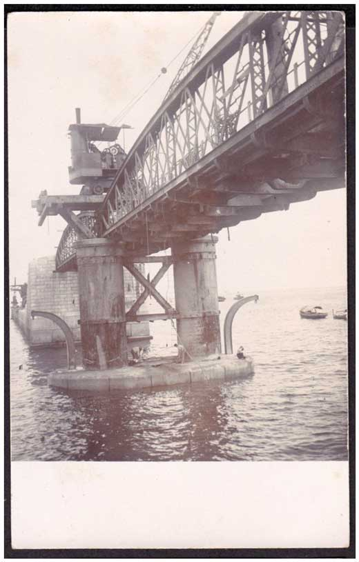 The Breakwater Bridge during its initial stages