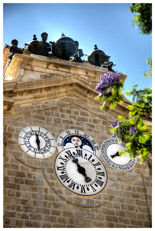 The façade of Grandmaster Pinto's Turret Clock