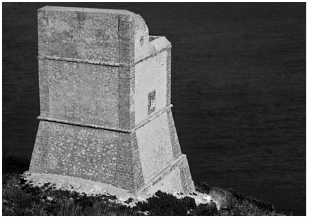 The Mpiso Tower  at Capo San Vito in Sicily