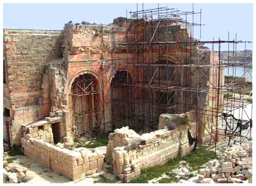 The ruins of the Chapel of St. Anthony of Padua
