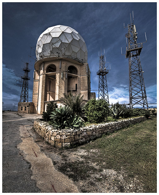 The MATS Area Radar Station at Dingli Cliffs.